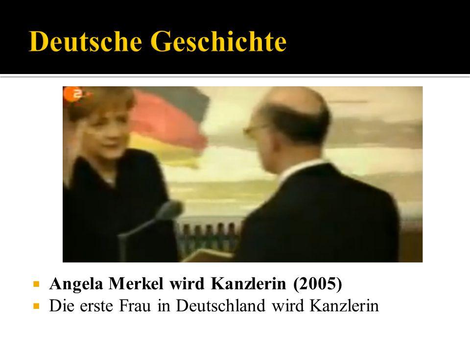 Deutsche Geschichte Angela Merkel wird Kanzlerin (2005)