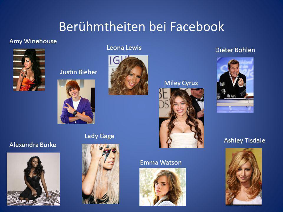 Berühmtheiten bei Facebook