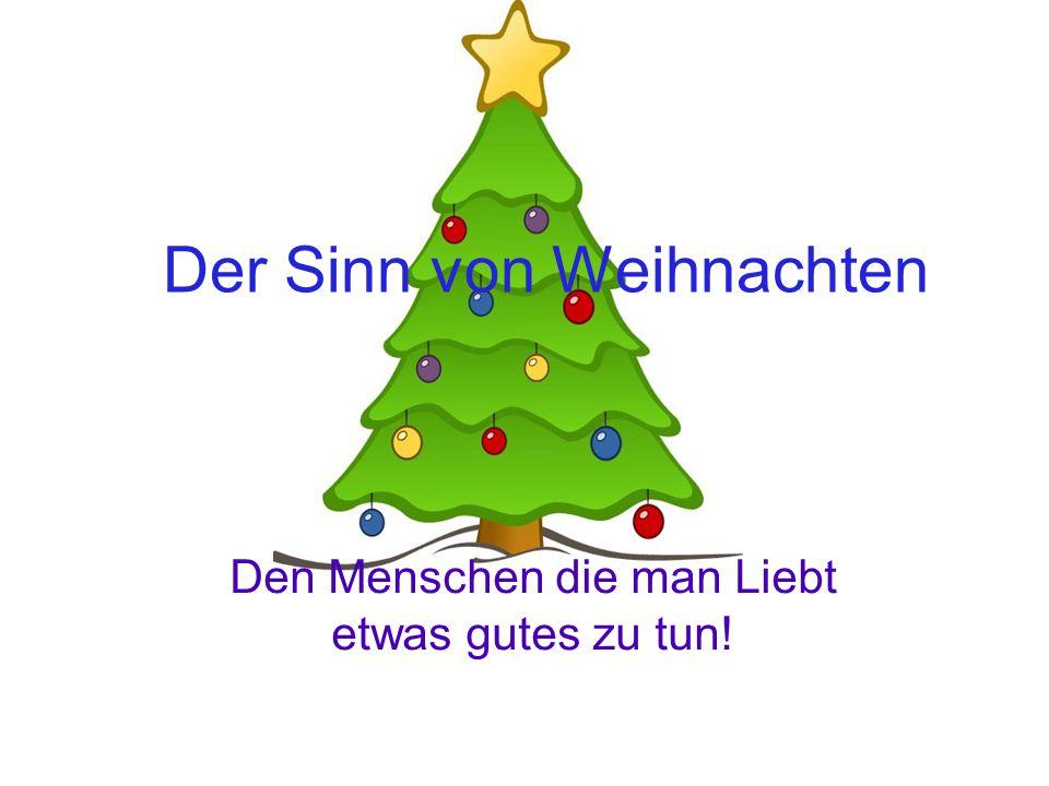 Der Sinn von Weihnachten