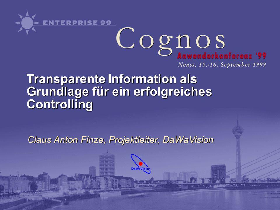 Transparente Information als Grundlage für ein erfolgreiches Controlling