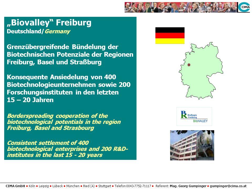"""""""Biovalley Freiburg Grenzübergreifende Bündelung der"""
