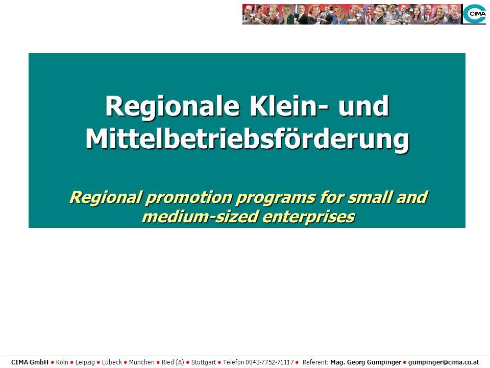 Regionale Klein- und Mittelbetriebsförderung