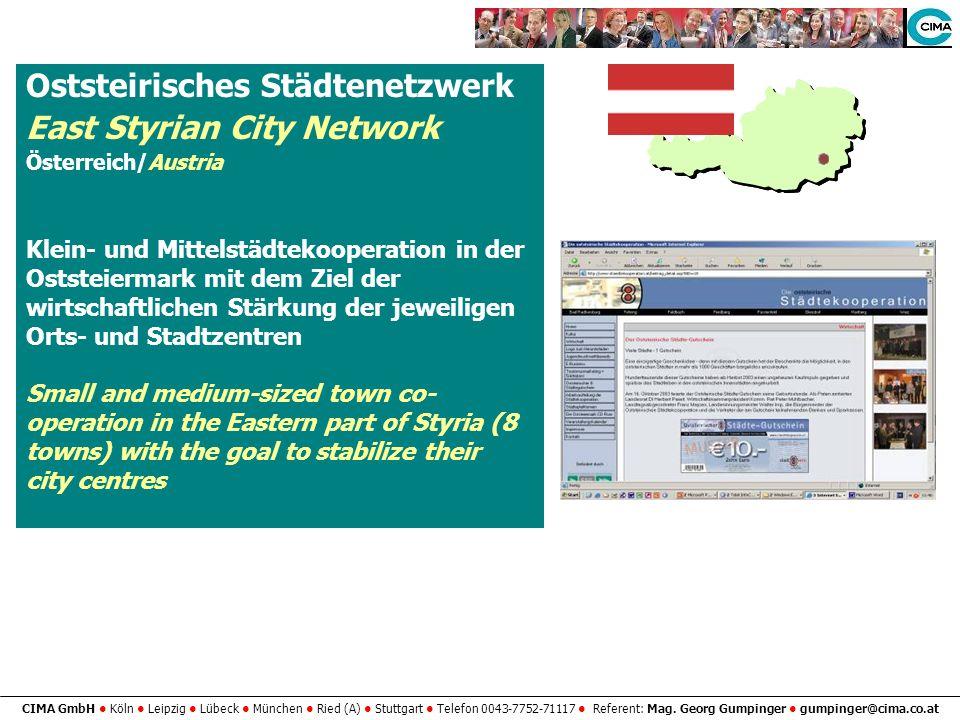Oststeirisches Städtenetzwerk East Styrian City Network