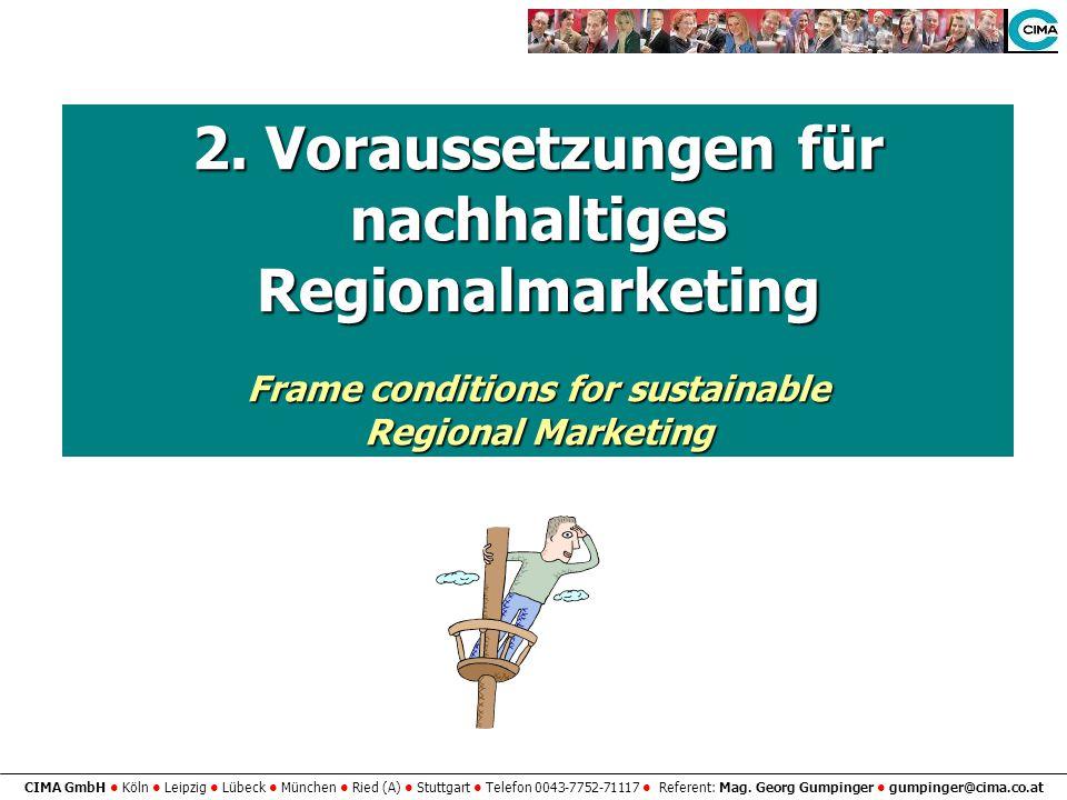 2. Voraussetzungen für nachhaltiges Regionalmarketing