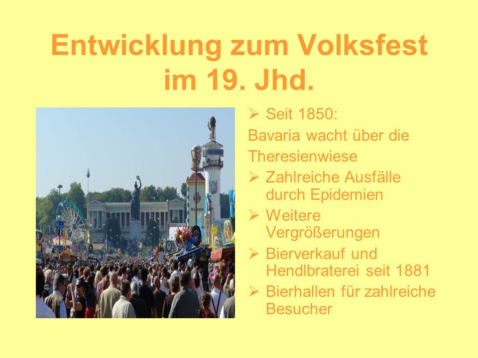 Entwicklung zum Volksfest im 19. Jhd.