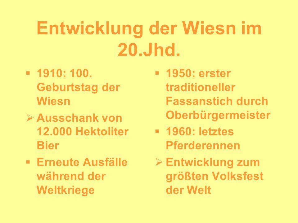 Entwicklung der Wiesn im 20.Jhd.