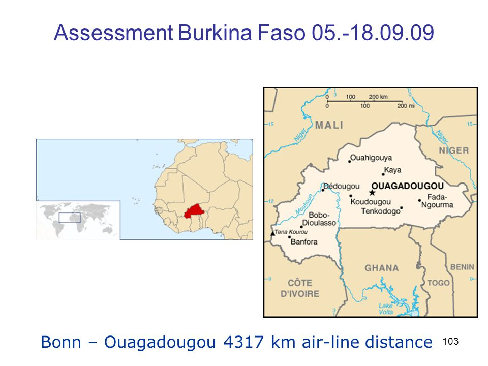 Assessment Burkina Faso 05.-18.09.09