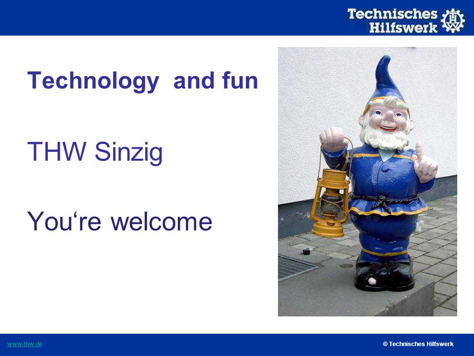 Technology and fun THW Sinzig You're welcome
