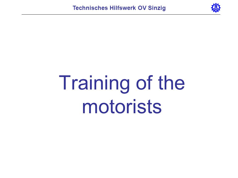 Training of the motorists