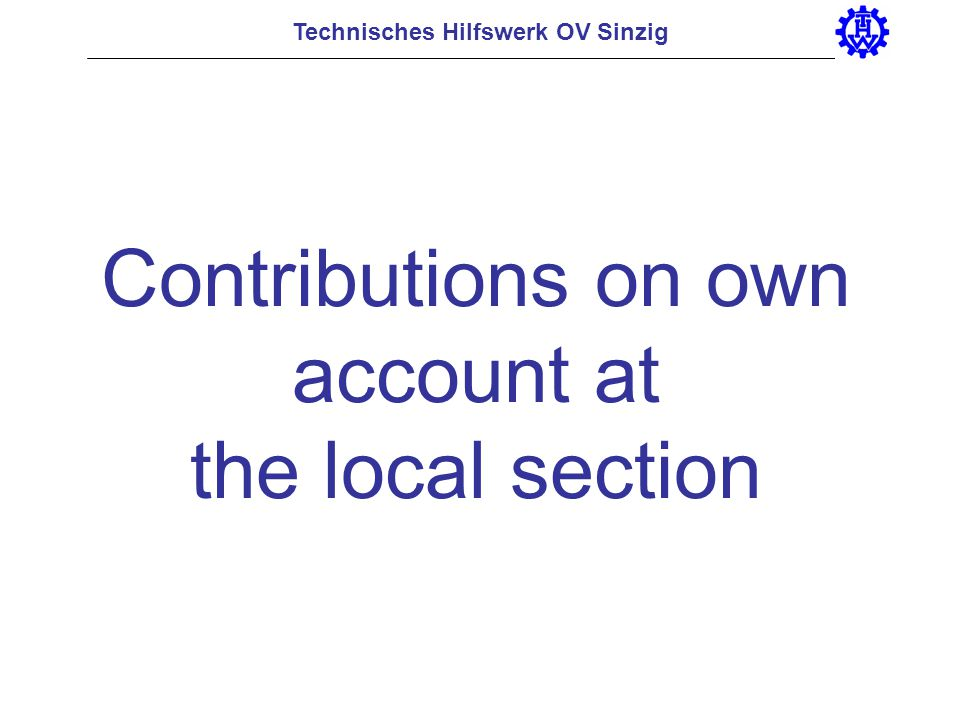 Contributions on own account at the local section