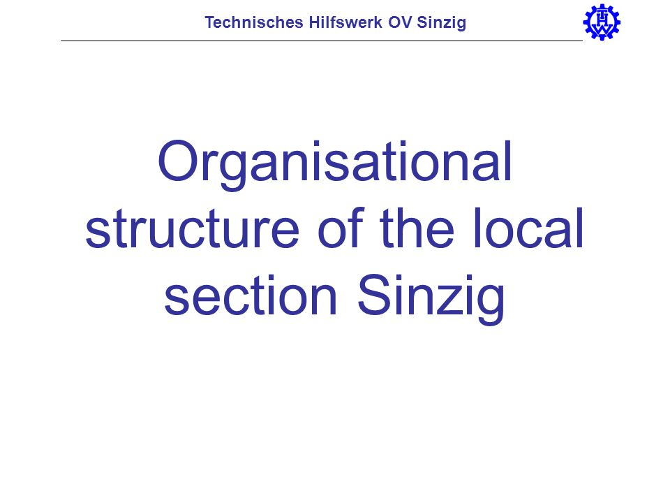 Organisational structure of the local section Sinzig
