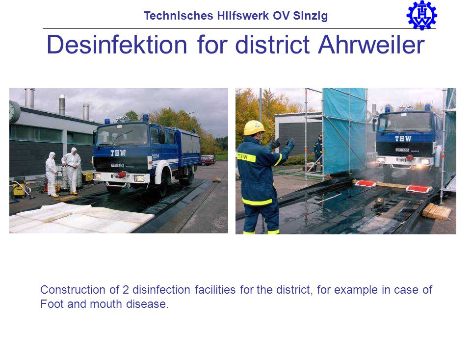 Desinfektion for district Ahrweiler