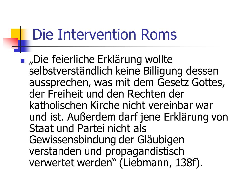 Die Intervention Roms