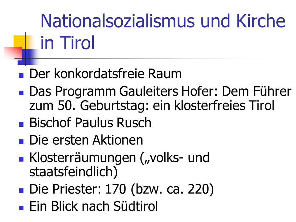 Nationalsozialismus und Kirche in Tirol