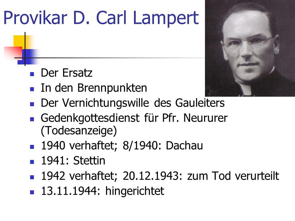 Provikar D. Carl Lampert
