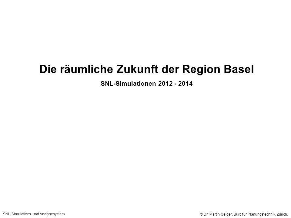 Die räumliche Zukunft der Region Basel
