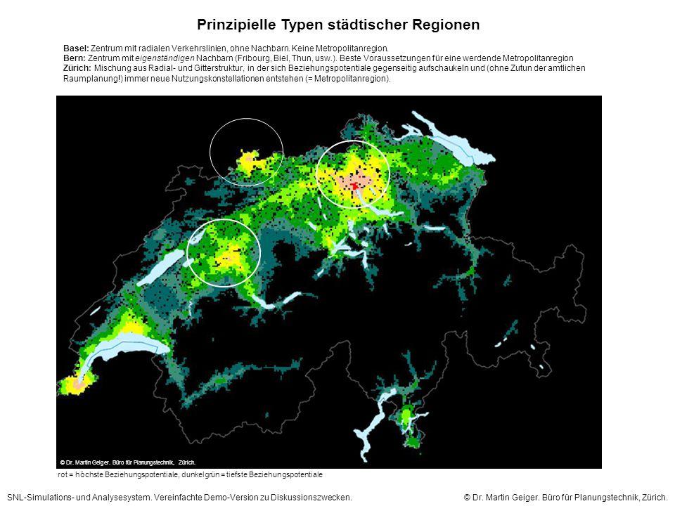 Prinzipielle Typen städtischer Regionen