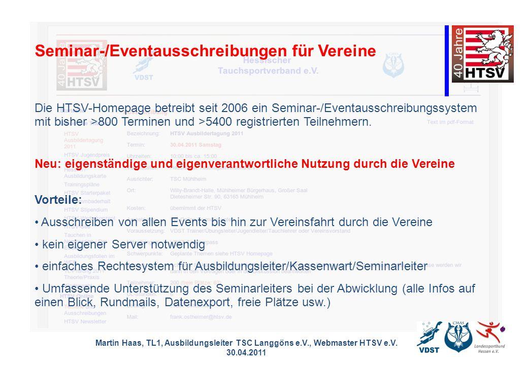 Seminar-/Eventausschreibungen für Vereine