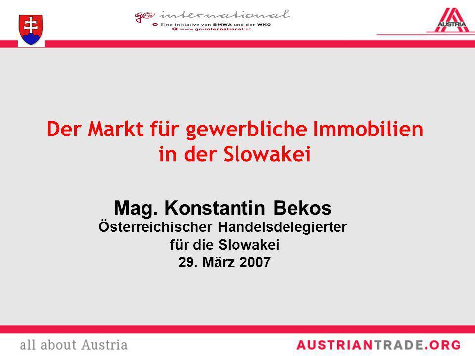 Der Markt für gewerbliche Immobilien in der Slowakei