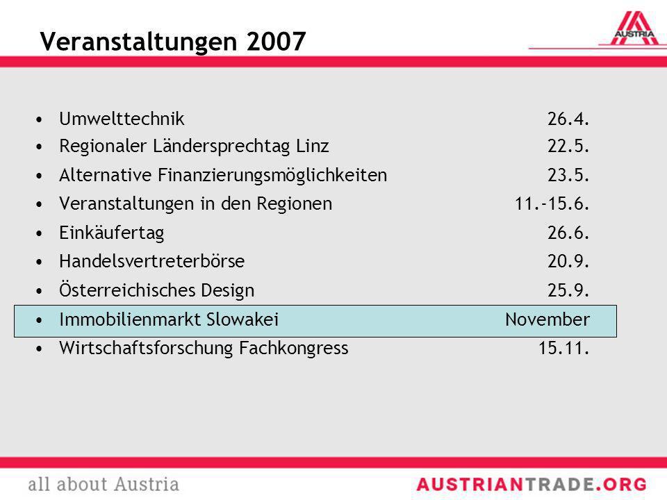Veranstaltungen 2007 Umwelttechnik 26.4.