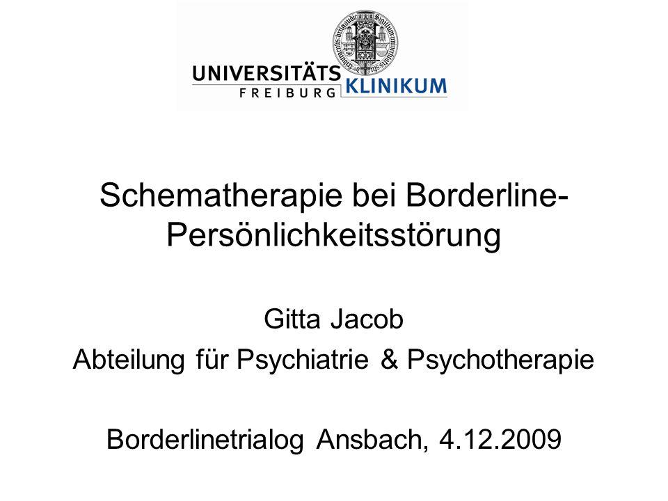 Schematherapie bei Borderline-Persönlichkeitsstörung