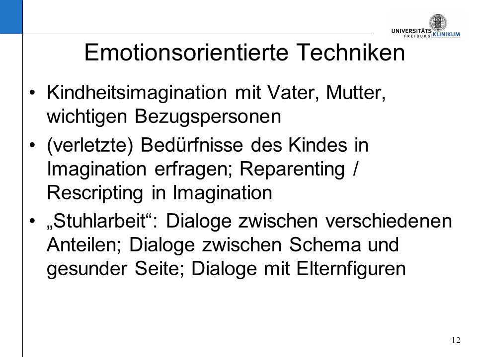Emotionsorientierte Techniken