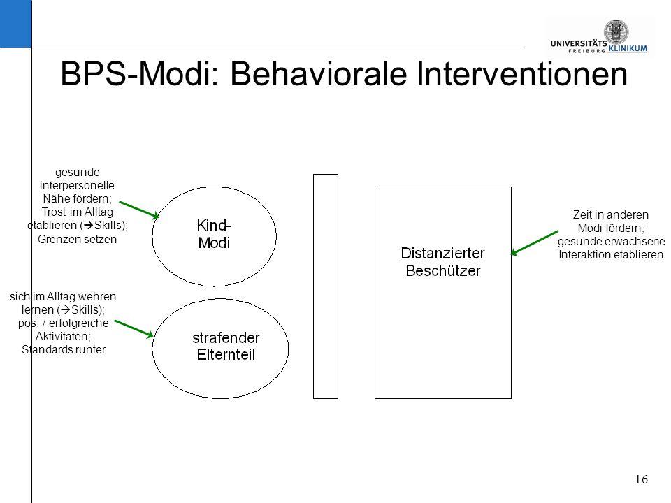 BPS-Modi: Behaviorale Interventionen