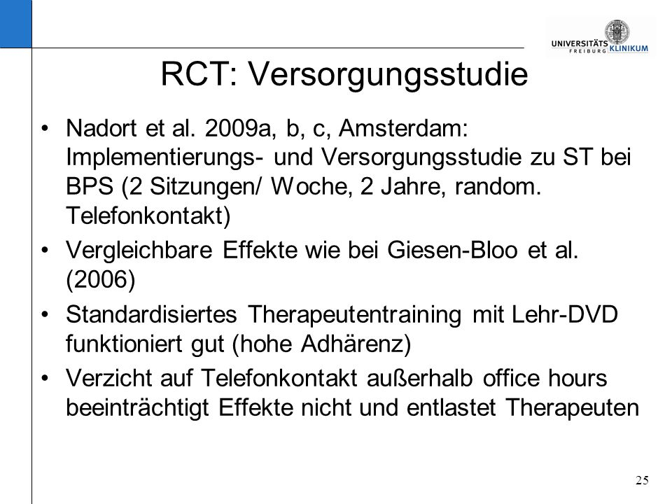 RCT: Versorgungsstudie