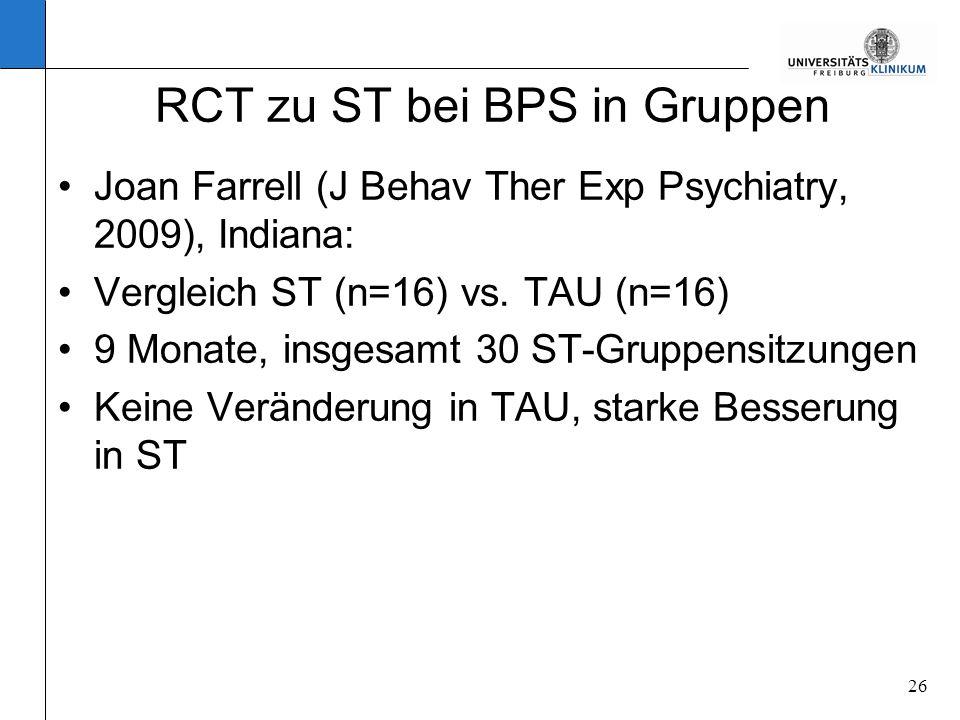 RCT zu ST bei BPS in Gruppen