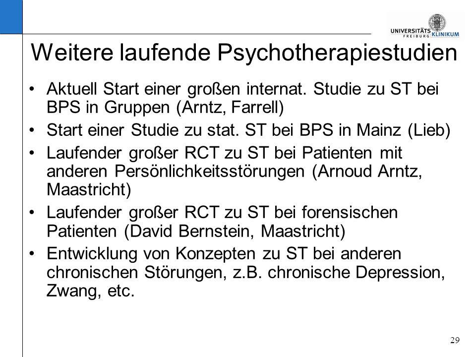 Weitere laufende Psychotherapiestudien
