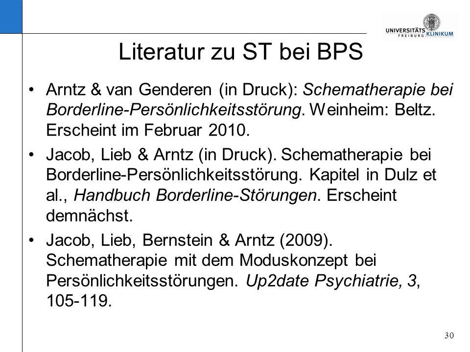 Literatur zu ST bei BPS