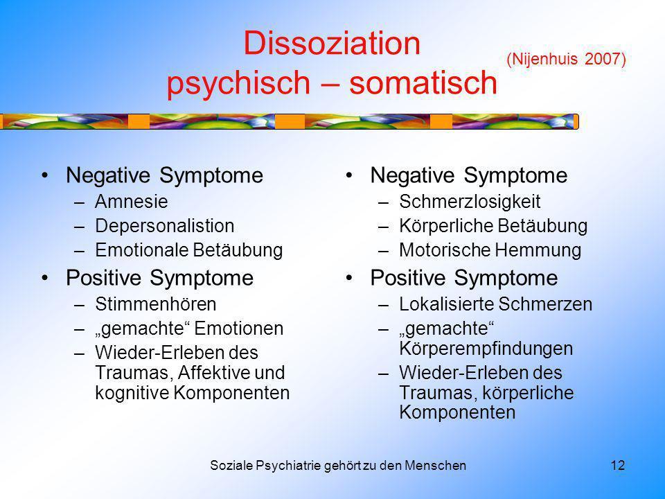 Dissoziation psychisch – somatisch