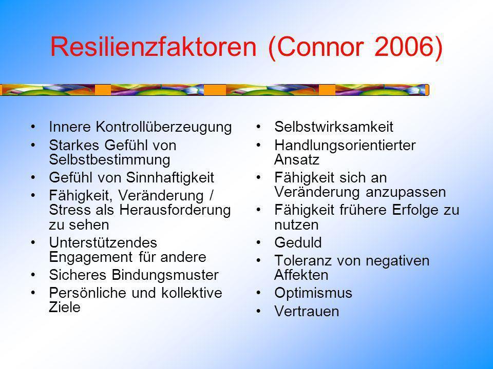 Resilienzfaktoren (Connor 2006)