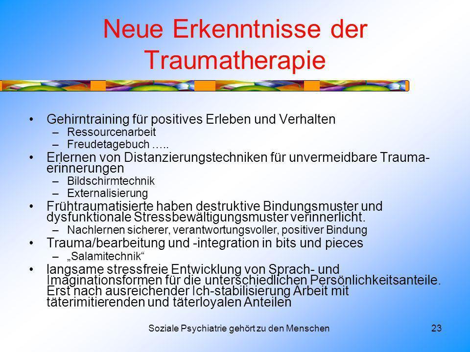 Neue Erkenntnisse der Traumatherapie