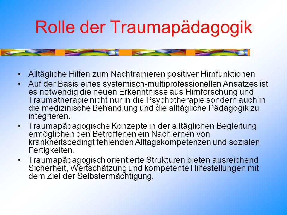 Rolle der Traumapädagogik