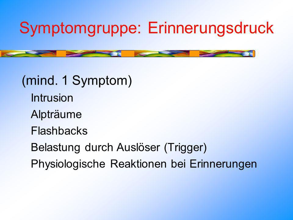 Symptomgruppe: Erinnerungsdruck