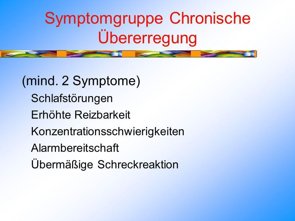 Symptomgruppe Chronische Übererregung
