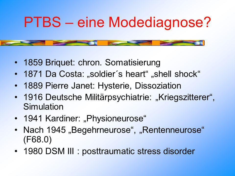 PTBS – eine Modediagnose