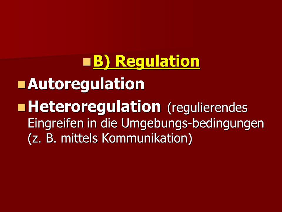 B) Regulation Autoregulation.