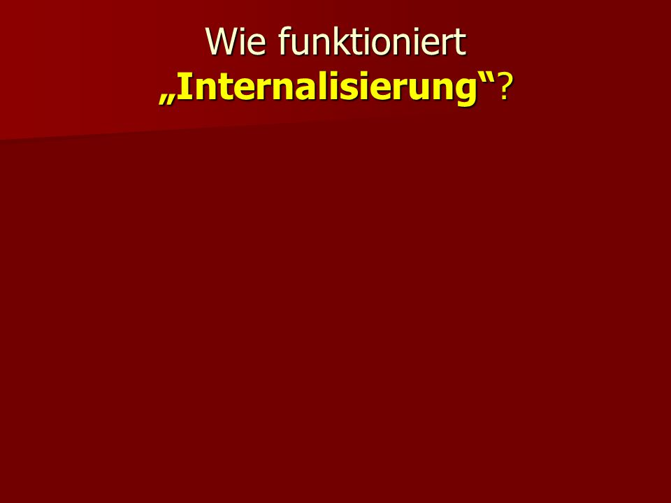 """Wie funktioniert """"Internalisierung"""
