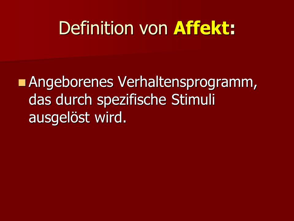 Definition von Affekt: