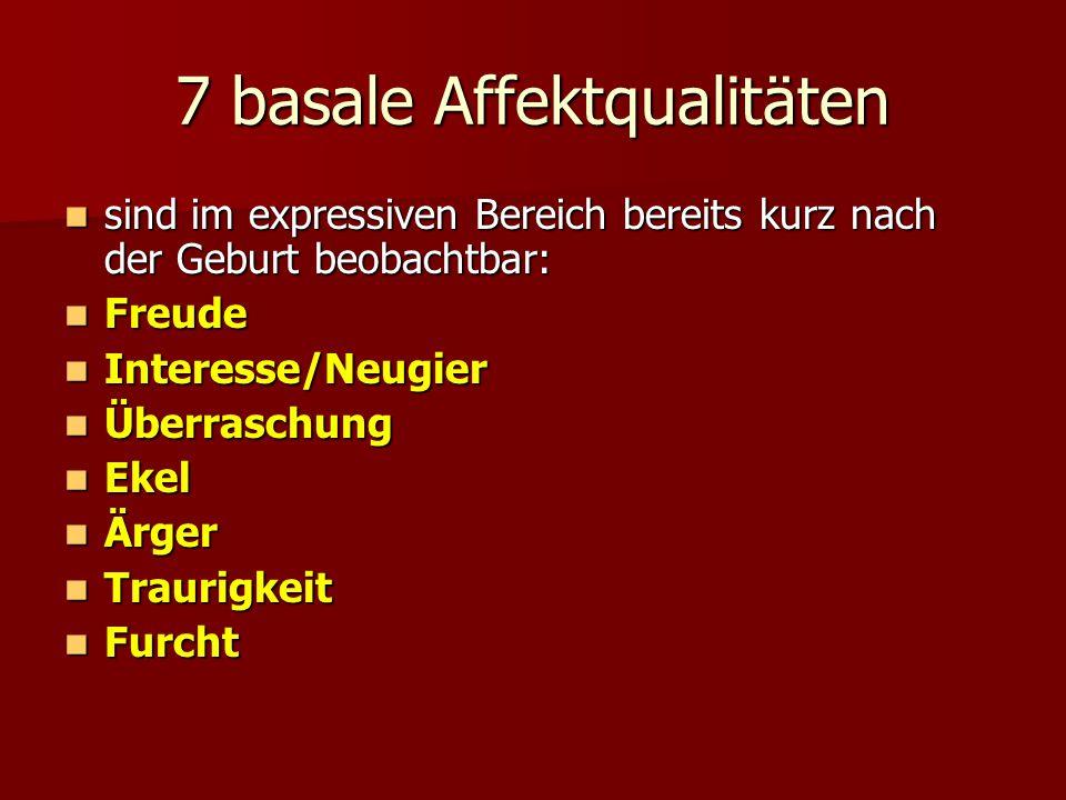 7 basale Affektqualitäten