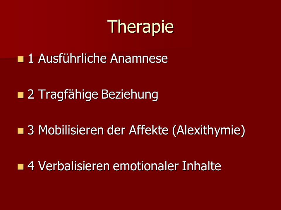 Therapie 1 Ausführliche Anamnese 2 Tragfähige Beziehung