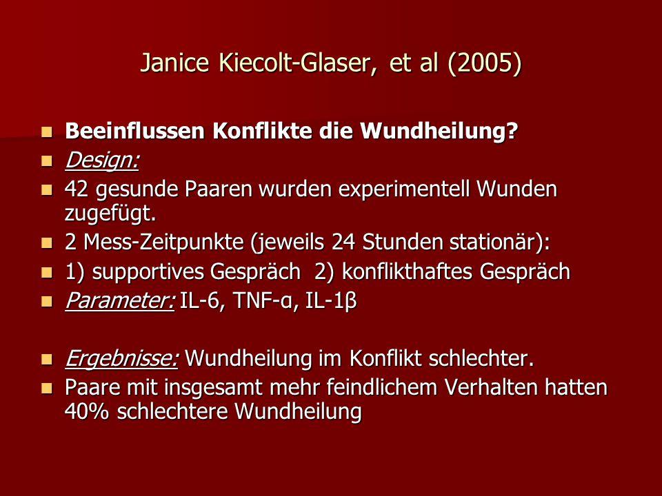Janice Kiecolt-Glaser, et al (2005)