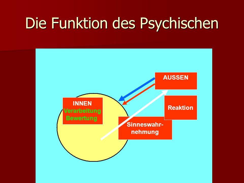 Die Funktion des Psychischen