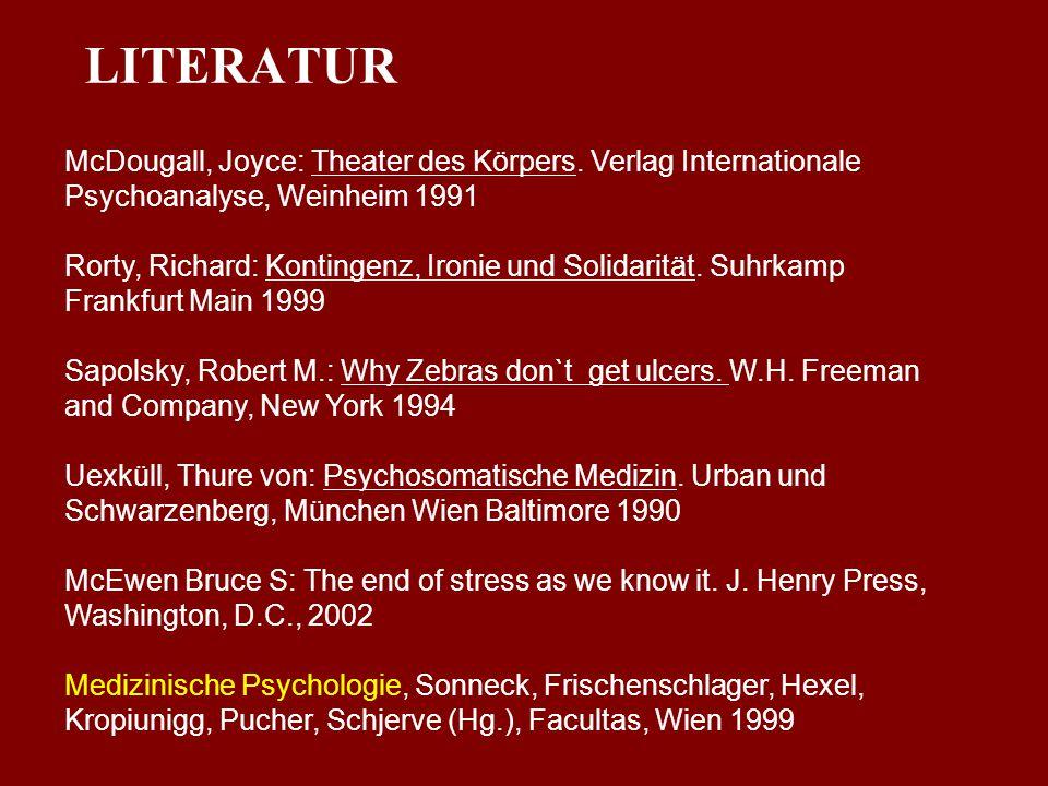 LITERATUR McDougall, Joyce: Theater des Körpers. Verlag Internationale Psychoanalyse, Weinheim 1991.