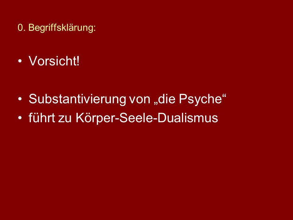 """Substantivierung von """"die Psyche führt zu Körper-Seele-Dualismus"""