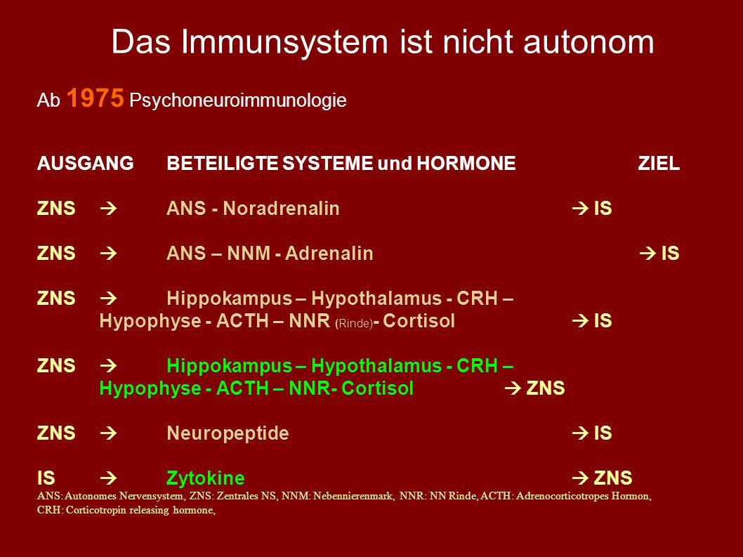 Das Immunsystem ist nicht autonom