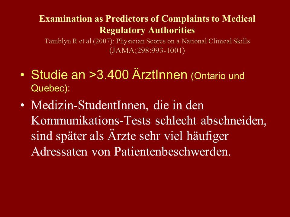 Studie an >3.400 ÄrztInnen (Ontario und Quebec):
