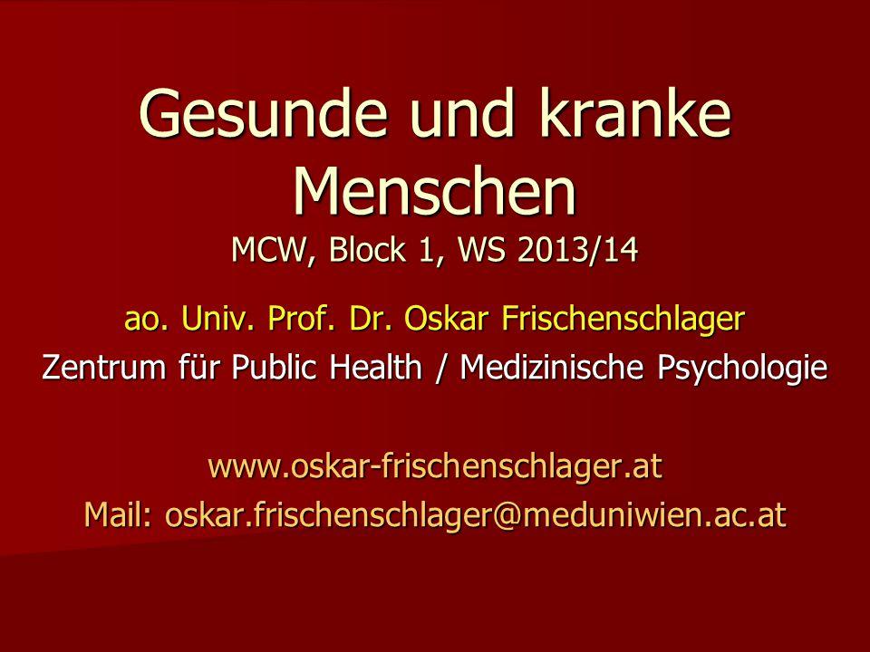 Gesunde und kranke Menschen MCW, Block 1, WS 2013/14